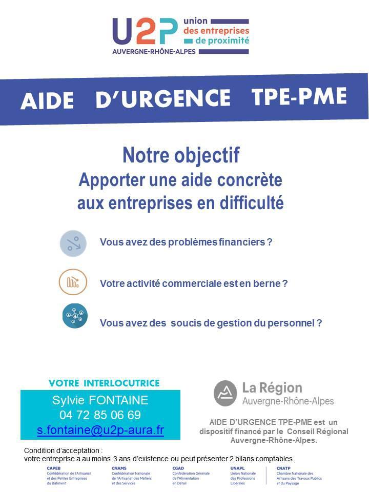 U2P  AURA Aide d'Urgence TPE-PME